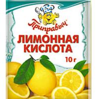 Лимонная кислота 10гр*35шт ПРИПРАВЫЧ