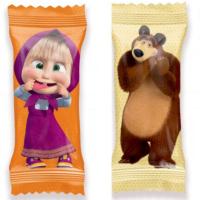 МАША и МЕДВЕДЬ 1кг*3уп Москва конфеты-драже Сириус Zoo-zoo