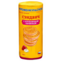 Фас Сэндвич (клубника) 250гр*24шт печенье кременкульское