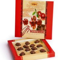ВИШНЯ (Ликер в шоколаде) 160гр*14шт Рахат набор конфет