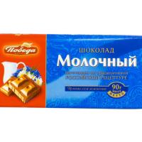 (1001) Победа 90гр*22шт Молочный Шоколад ШТУЧНО