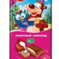Шоколад Детский Сувенир (молочный) 85гр*15шт (Маша и Медведь) Славянка