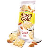 Альпен Голд 85гр*21шт (Белый миндаль-Кокос) Шоколад