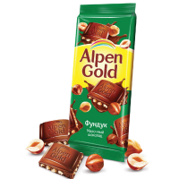 Альпен Голд 85гр*21шт (Дробленый Фундук) Шоколад
