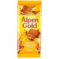 Альпен Голд 85гр*21шт (Арахис-Кук.хлопья) Шоколад