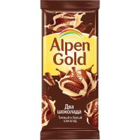 Альпен Голд 85гр*21шт (Два шоколада Темный и Белый) Шоколад