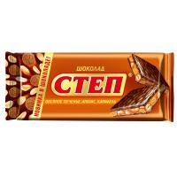 Шоколад СТЕП 100гр*15шт (Мол. Овс.печ.Арах.Карам) ШТУЧНО