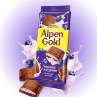 Альпен Голд 85гр*21шт (Черника-Йогурт) Шоколад
