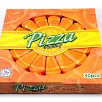 Желе ФРУКТОВАЯ ПИЦЦА 50гр*30шт пицца-дольки (апельсин)