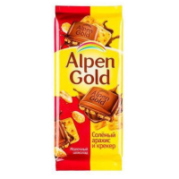 Альпен Голд 85гр*21шт (Солёный арахис-крекер) Шоколад