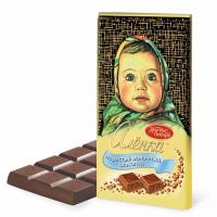 Аленка 95гр*14шт (пористый) шоколад Кр.Окт