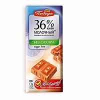 (1095) Победа (Молоч 36% без сахара) 100гр*20шт Шоколад ШТУЧНО