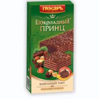 Тр Шоколадный Принц 260гр*9шт Крупская ваф.торт с фундуком